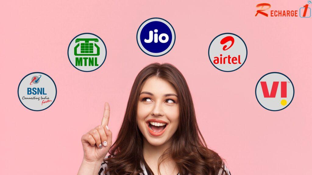 Online Mobile Recharge: Airtel | BSNL | Jio | MTNL | Vodafone-Idea (VI)